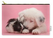 Border Collie Pup And Guinea Pig Carry-all Pouch
