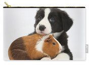 Border Collie Pup And Tricolor Guinea Carry-all Pouch