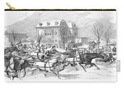 Boston: Sleighing, 1854 Carry-all Pouch