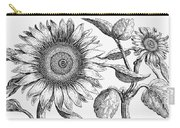 Botany: Sunflower Carry-all Pouch