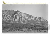 Boulder Colorado Flatiron Scenic View With Ncar Bw Carry-all Pouch