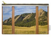 Boulder Colorado Flatirons Window Scenic View Carry-all Pouch