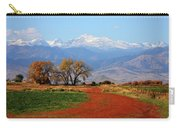 Boulder County Colorado Landscape Red Road Autumn View Carry-all Pouch