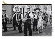 Bourbon Street Second Line Wedding New Orleans In Black And White Carry-all Pouch