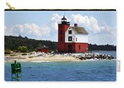 Round Island Light House Michigan Carry-all Pouch