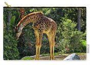Bowing Giraffe Carry-all Pouch by Mariola Bitner