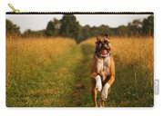 Boxer Dog Running Happily Through Field Carry-all Pouch by Stephanie McDowell