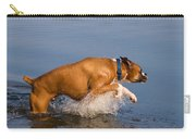 Boxer Playing In Water Carry-all Pouch