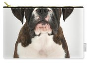 Boxer Pup Carry-all Pouch by Mark Taylor