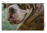 Boxer Smiles Carry-all Pouch by DigiArt Diaries by Vicky B Fuller