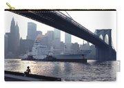 Boy Freighter Brooklyn Bridge Sunset Carry-all Pouch