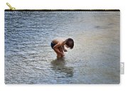 Boy Playing In The Pond Carry-all Pouch