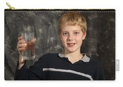 Boy With A Hot Glass Of Water Carry-all Pouch