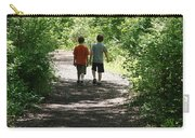 Boys Hiking In Woods Carry-all Pouch