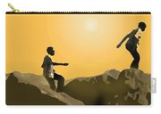 Boys Playing On The Rocks Carry-all Pouch