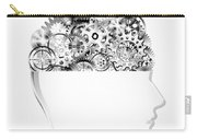 Brain Design By Cogs And Gears Carry-all Pouch