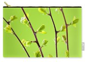 Branches With Green Spring Leaves Carry-all Pouch by Elena Elisseeva