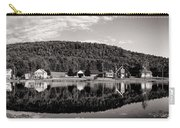 Brant Lake Reflections Black And White Carry-all Pouch