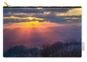 Brasstown Sunset Carry-all Pouch by Debra and Dave Vanderlaan