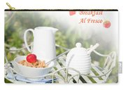 Breakfast Al Fresco Carry-all Pouch by Amanda Elwell