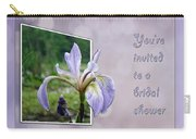 Bridal Shower Invitation - Blue Flag Iris Wildflower Carry-all Pouch