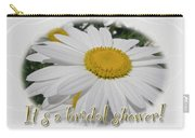 Bridal Shower Invitation - White Ox Eye Daisy Carry-all Pouch