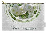 Bridal Shower Invitation - White Spirea Carry-all Pouch