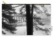 Bridge In The Fog Bw Carry-all Pouch