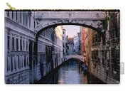 Bridge Of Sighs And Morning Colors In Venice Carry-all Pouch