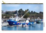 Bright Blue Fishing Ship Carry-all Pouch