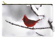 Bright In The Snow - Cardinal Carry-all Pouch