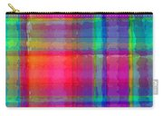 Bright Plaid Carry-all Pouch by Louisa Knight