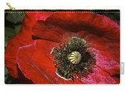 Bright Red Poppy Carry-all Pouch