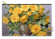 Bright Smile - Roses In A Silver Vase Carry-all Pouch