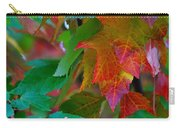 Brilliant Red Maple Leaves Carry-all Pouch