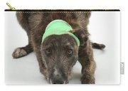 Brindle Lurcher Wearing A Bandage Carry-all Pouch