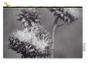 Bristle Thistle In Black And White Carry-all Pouch
