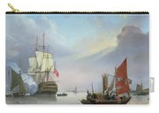 British Man-o'-war Off The Coast Carry-all Pouch