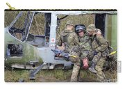 British Soldiers Help A Simulated Carry-all Pouch