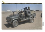 British Soldiers In Their Land Rover Carry-all Pouch