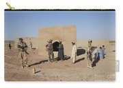 British Soldiers On Foot Patrol Carry-all Pouch
