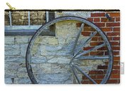 Broken Wagon Wheel Against The Wall Carry-all Pouch