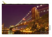 Brooklyn Bridge At Night Carry-all Pouch