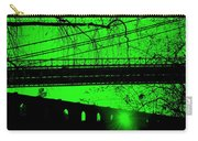 Brooklyn Bridge In Green Carry-all Pouch
