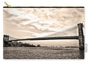 Brooklyn Bridge In Sepia Carry-all Pouch