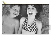 Brother And Sister On Beach Carry-all Pouch