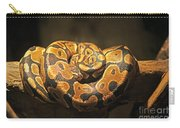 Brown And Black Snake Carry-all Pouch