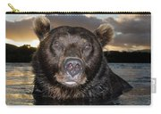 Brown Bear Ursus Arctos In River Carry-all Pouch