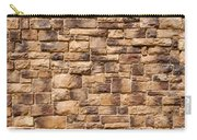 Brown Brick Wall Carry-all Pouch
