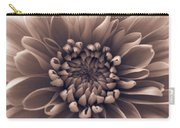 Brown Flower Carry-all Pouch